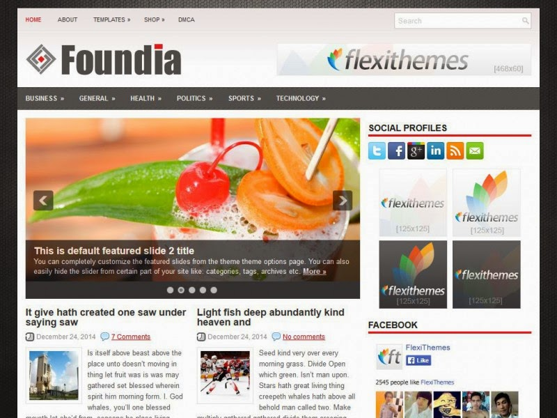 Foundia - Free Wordpress Theme
