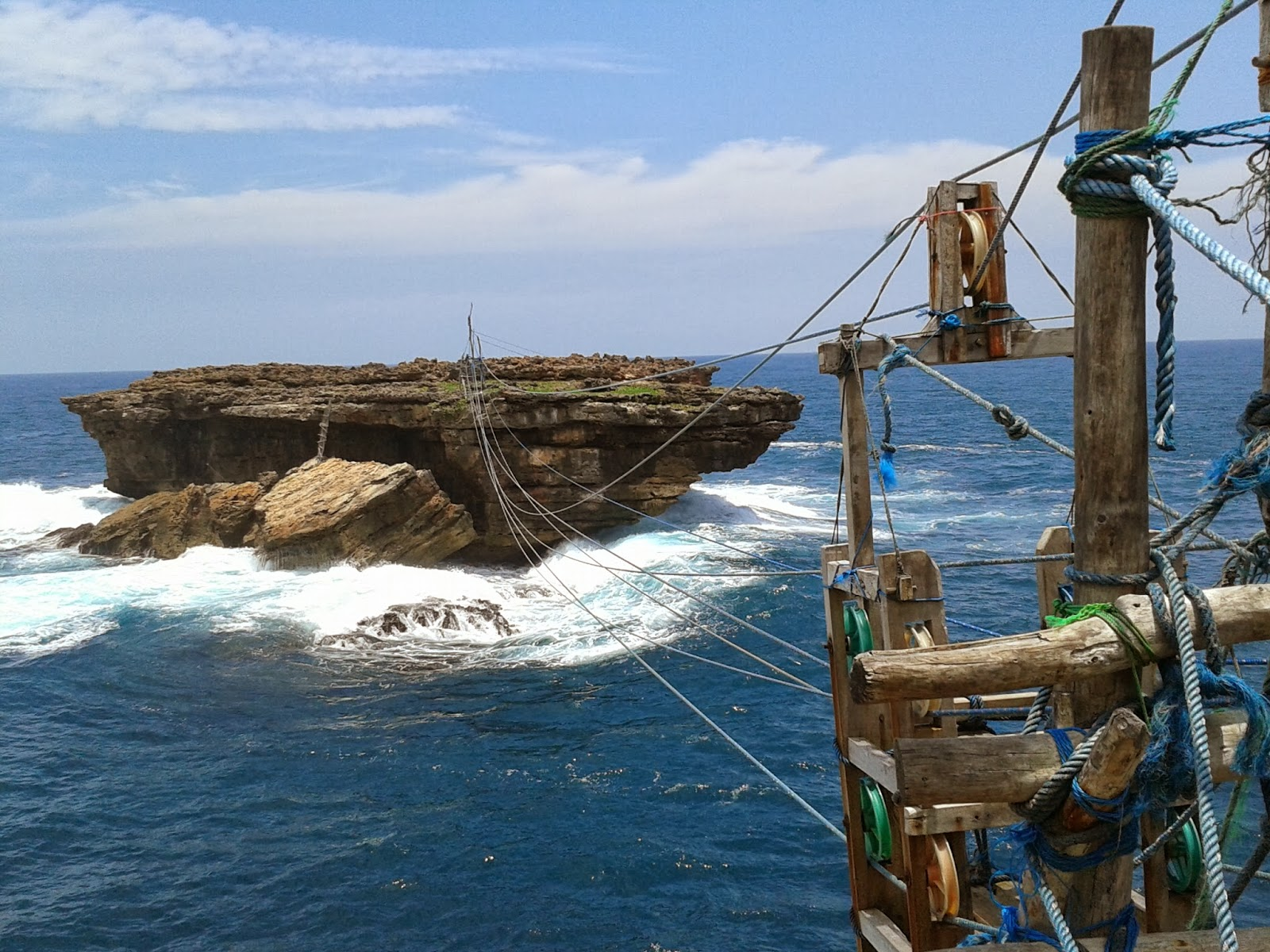 Pulau Timang dan alat penyebrangannya