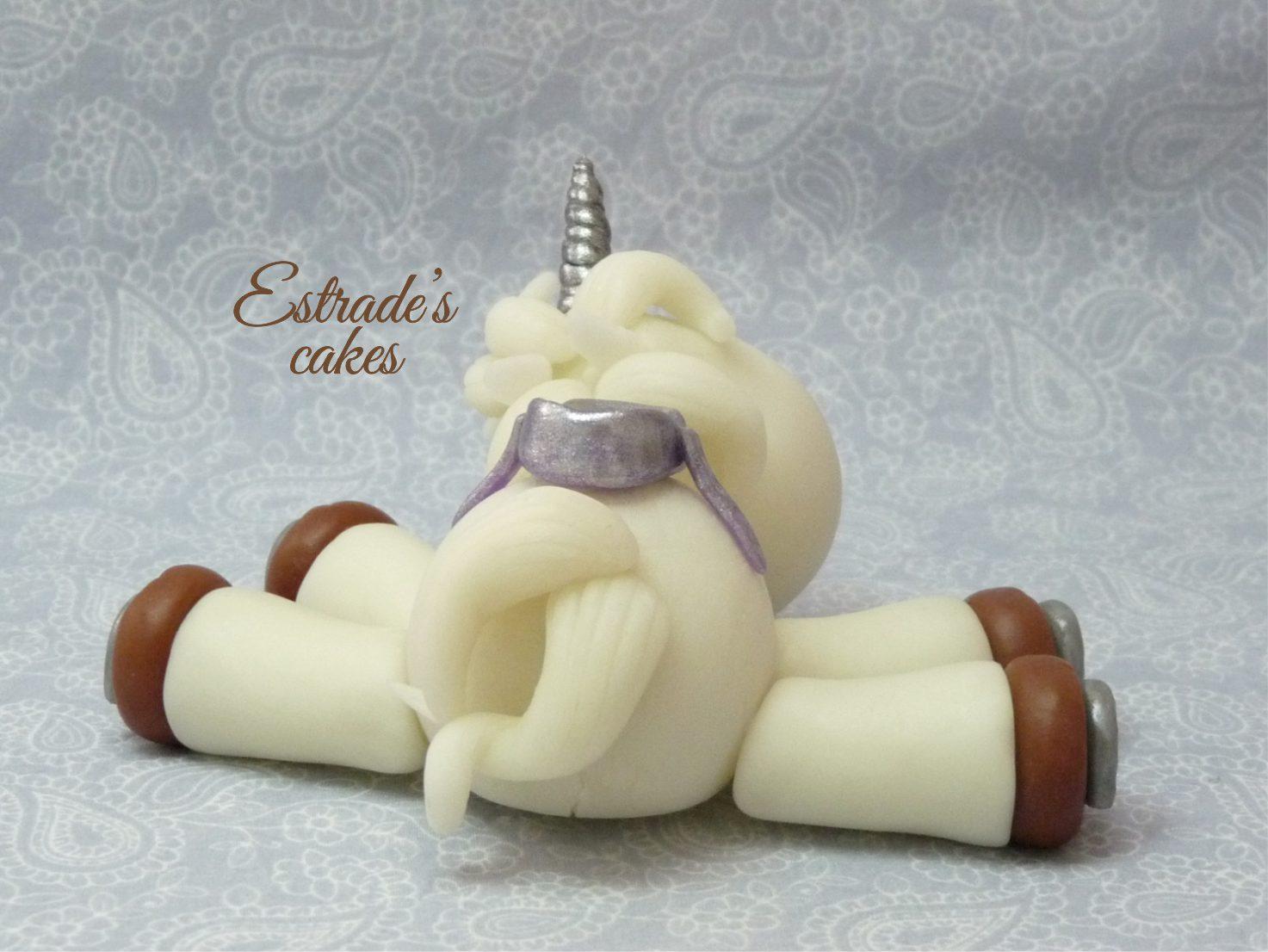 unicornio modelado en porcelana fría - 4