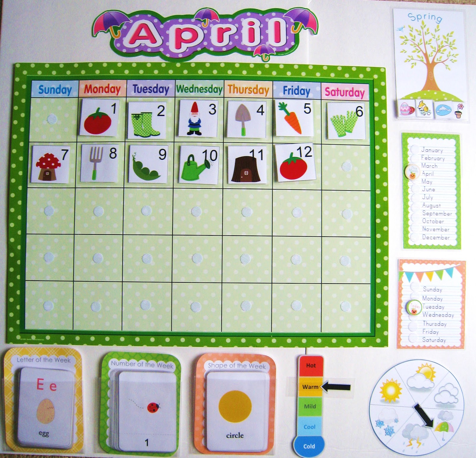 Calendar Printables For Preschool : Calendar board g píxeles ailyn day care