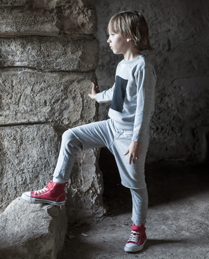 Kids monochrome style - Nununu AW14 editorial by Alexandra Cooper Photography