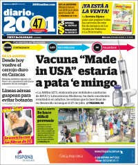 15/07/2020     PRIMERA PAGINA DIARIO DE VENEZUELA