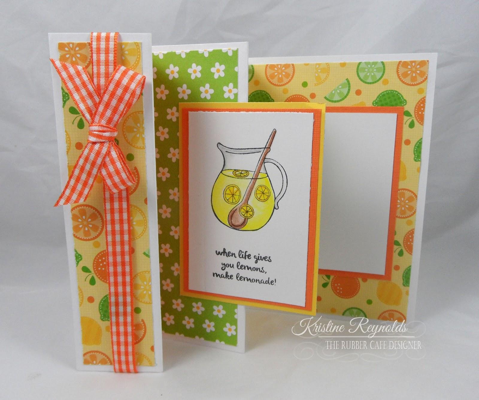 The Rubber Cafe Design Team Blog Lemonade Zig Zag Card