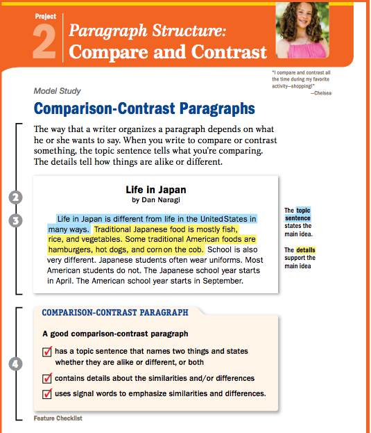 Comparison contrast essay topics