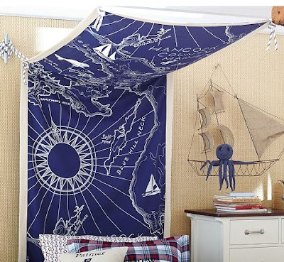 nautical map decor
