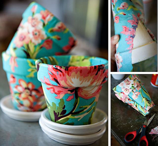 Decoraci n f cil 8 ideas para decorar macetas - Como decorar una servilleta de papel ...
