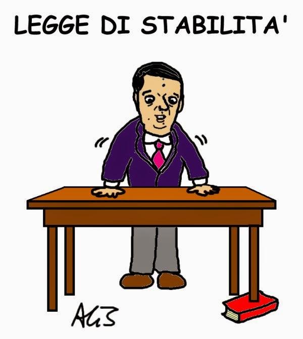 legge stabilità, Renzi, satira