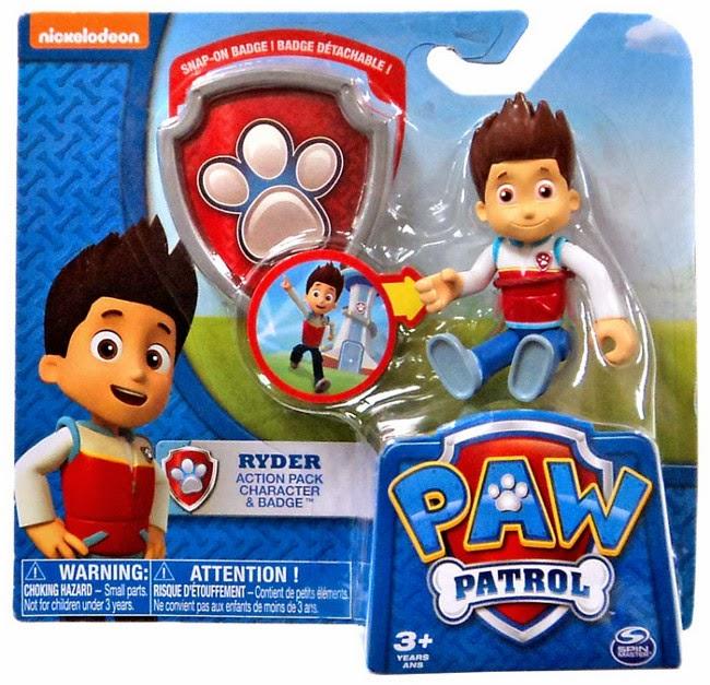 JUGUETES - Paw Patrol : La Patrulla Canina  Ryder + placa | Muñeco - Figura  Toys 2015 | Producto Oficial Serie Televisión | Nickelodeon  A partir de 3 años
