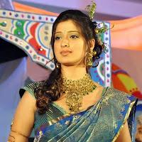 Cute lakshmi rai in a silk saree