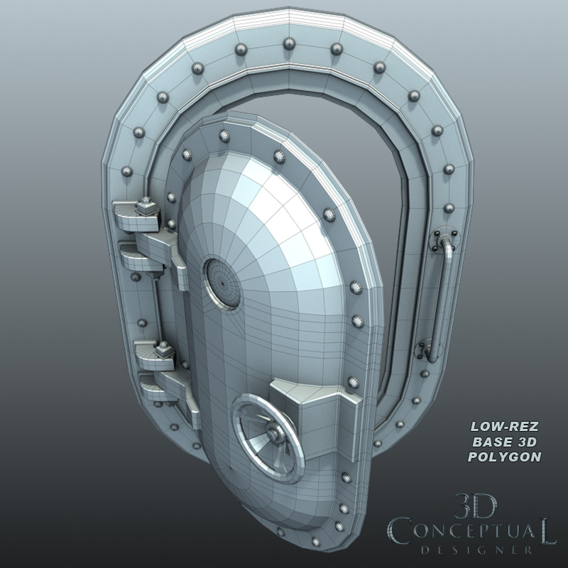 Incroyable 3D Model Sales Part IV The Submarine Door/Hatch