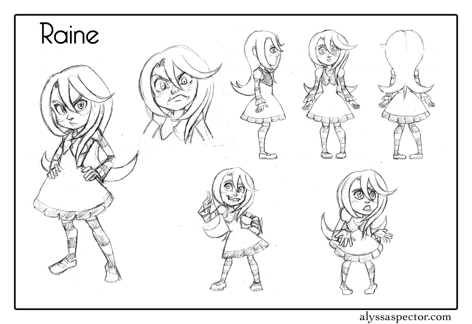 Character Design Outline : Alyssa spector s art character designs