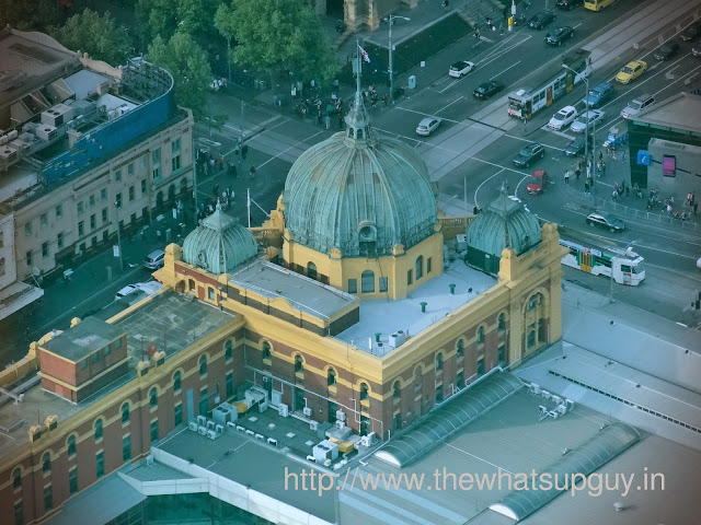 Flinders Street Station view from Eureka towers