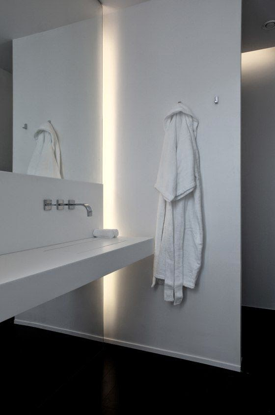 indirect lighting in bathrooms norse white design blog