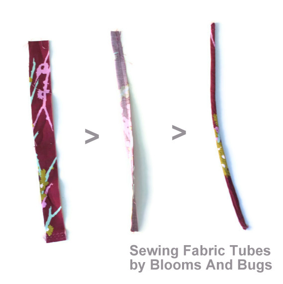 sewing fabric pipes