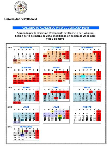 calendario académico 17-18