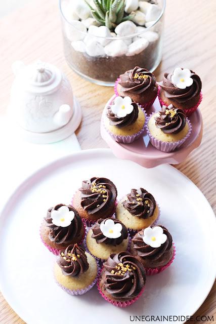 Mini Cupcakes Chocolat Vanille