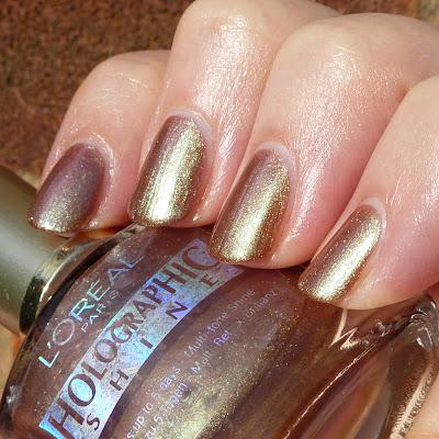 L'Oreal Holographic Shine 807 Nail Polish Swatch