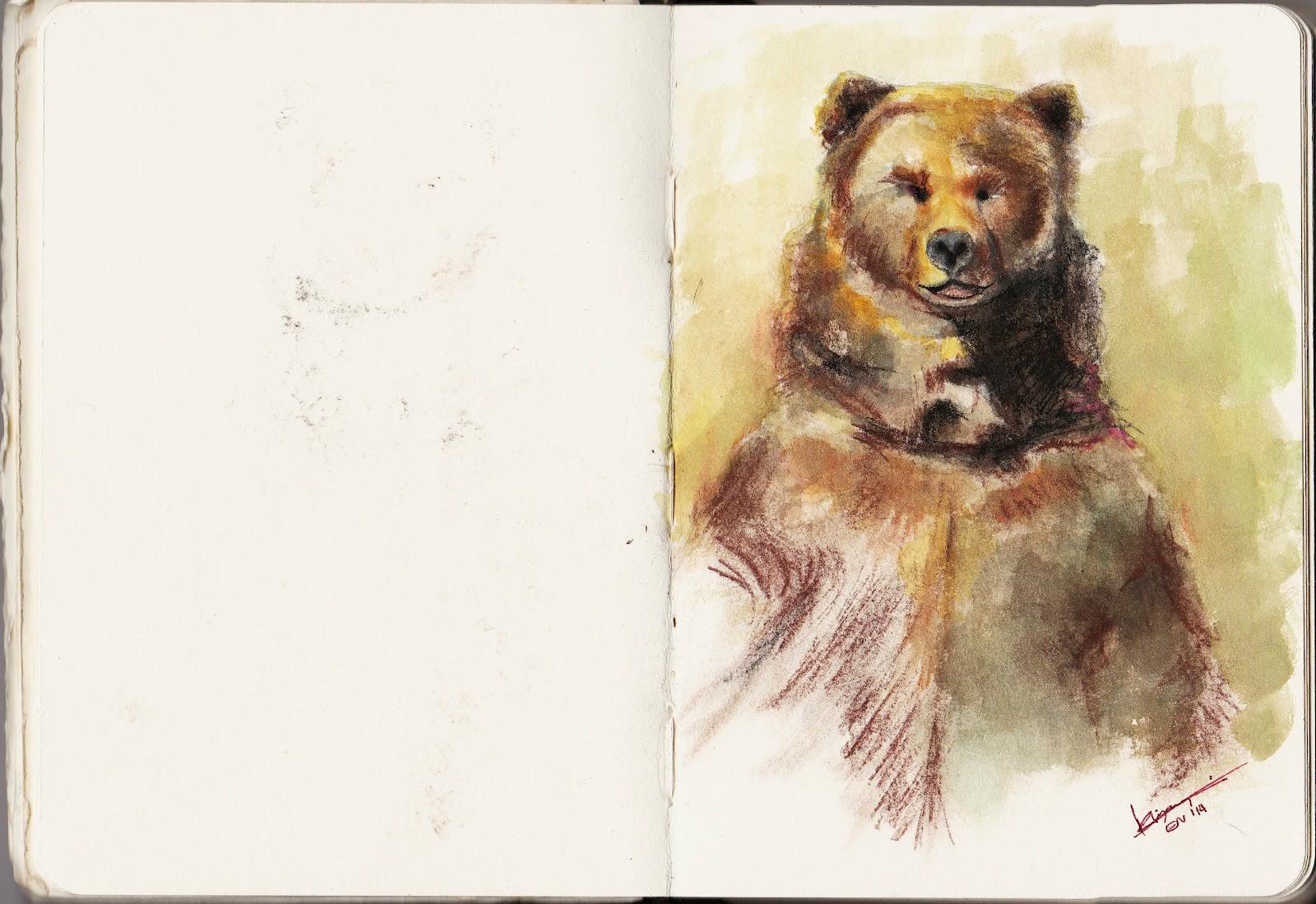 kiyary standing bear drawing 01