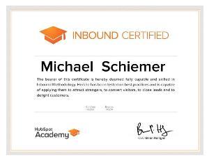 Mike Schiemer HubSpot Certified