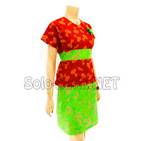 DB3044 - Model Baju Dress Batik Modern Terbaru 2013