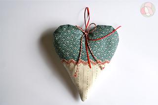 corazon patchwork san valentin ambientador para colgar