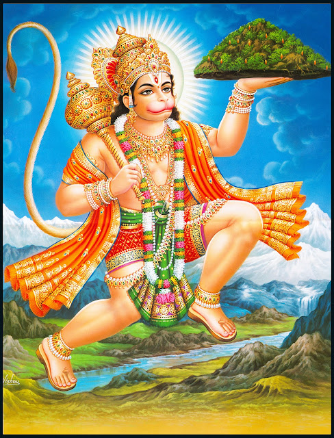 hanuman carrying mountain