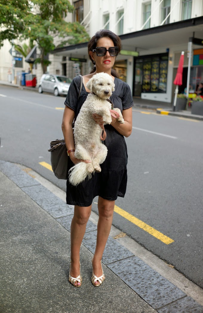 NZ street style, street style, bichon frise, Cacharel, New Zealand fashion, hot models, auckland street style, hot kiwi girls, most beautiful, kiwi fashion