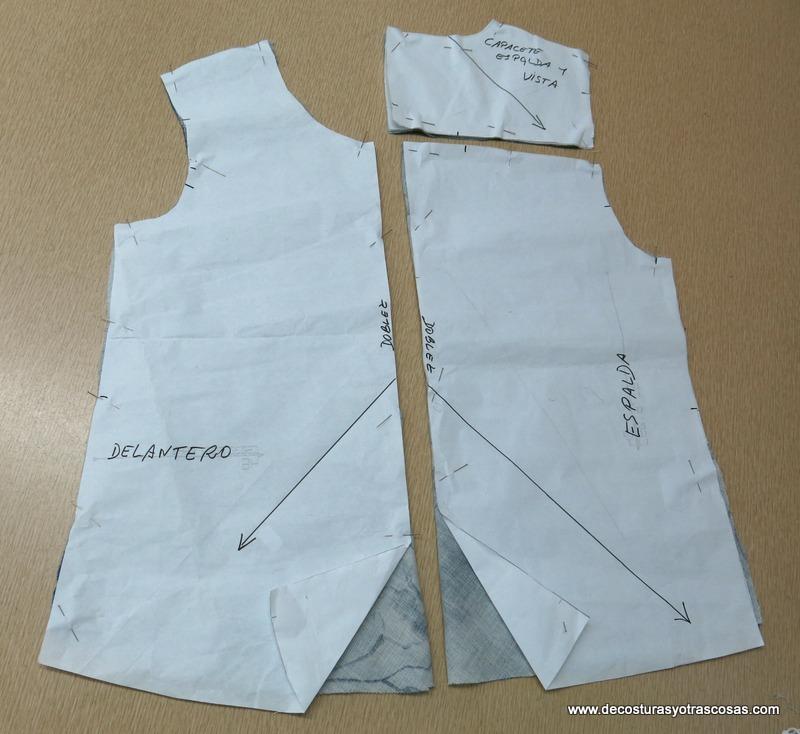 cortar una blusa al bies