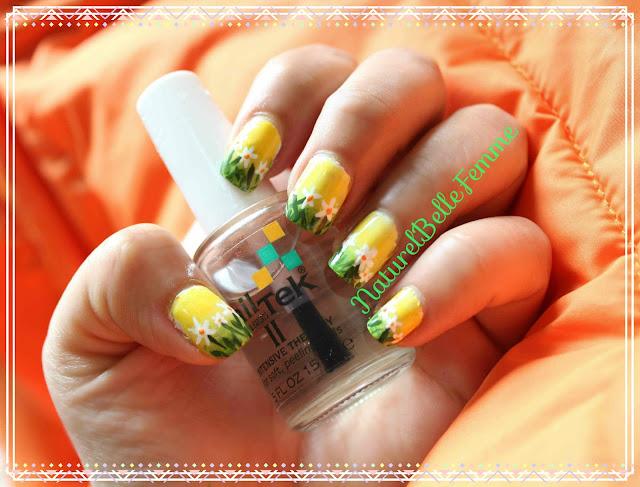 Summer garden Nail art
