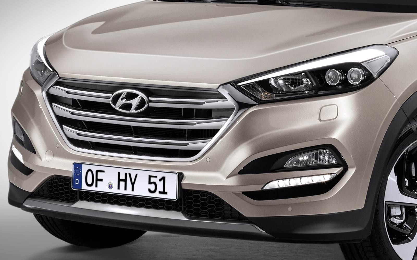 Novo Hyundai Tucson 2016 - grade dianteira