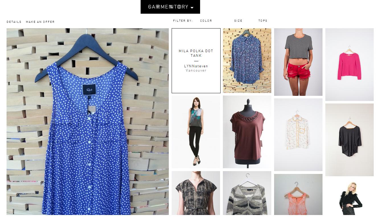 Garmentory merchandise