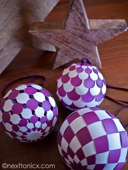 Бумажные елочные шары своими руками фото