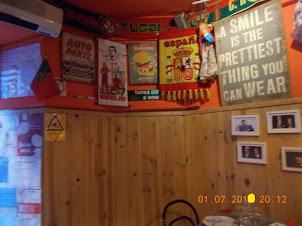 """ Interior decor of tiny Tapas do Bairro & Wine bar"""