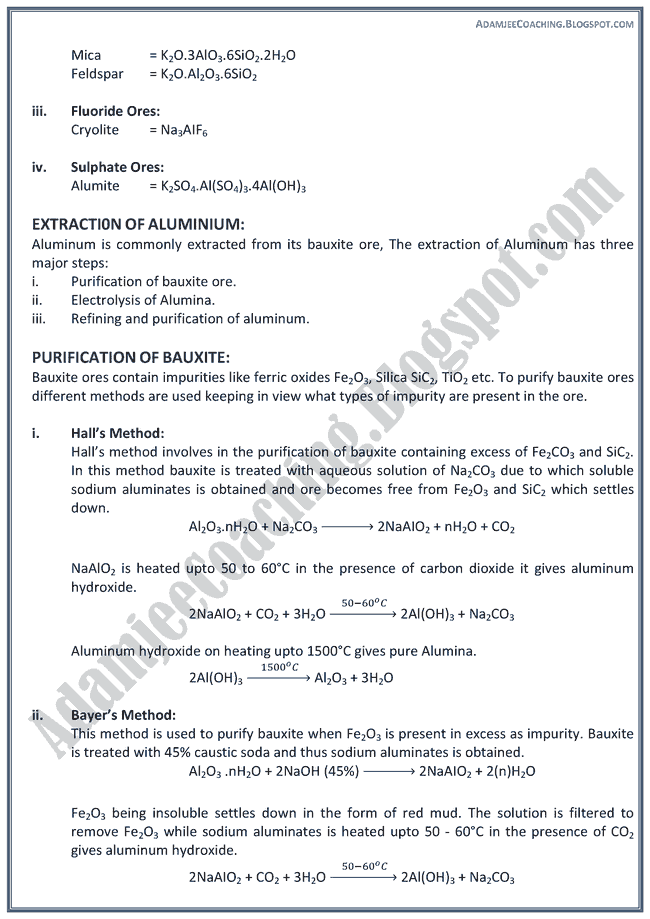 XII Chemistry Notes - P Block Elements