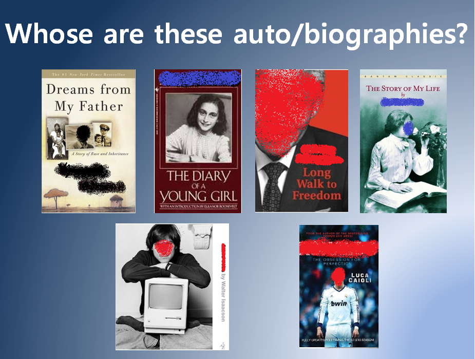 Titles for biographies
