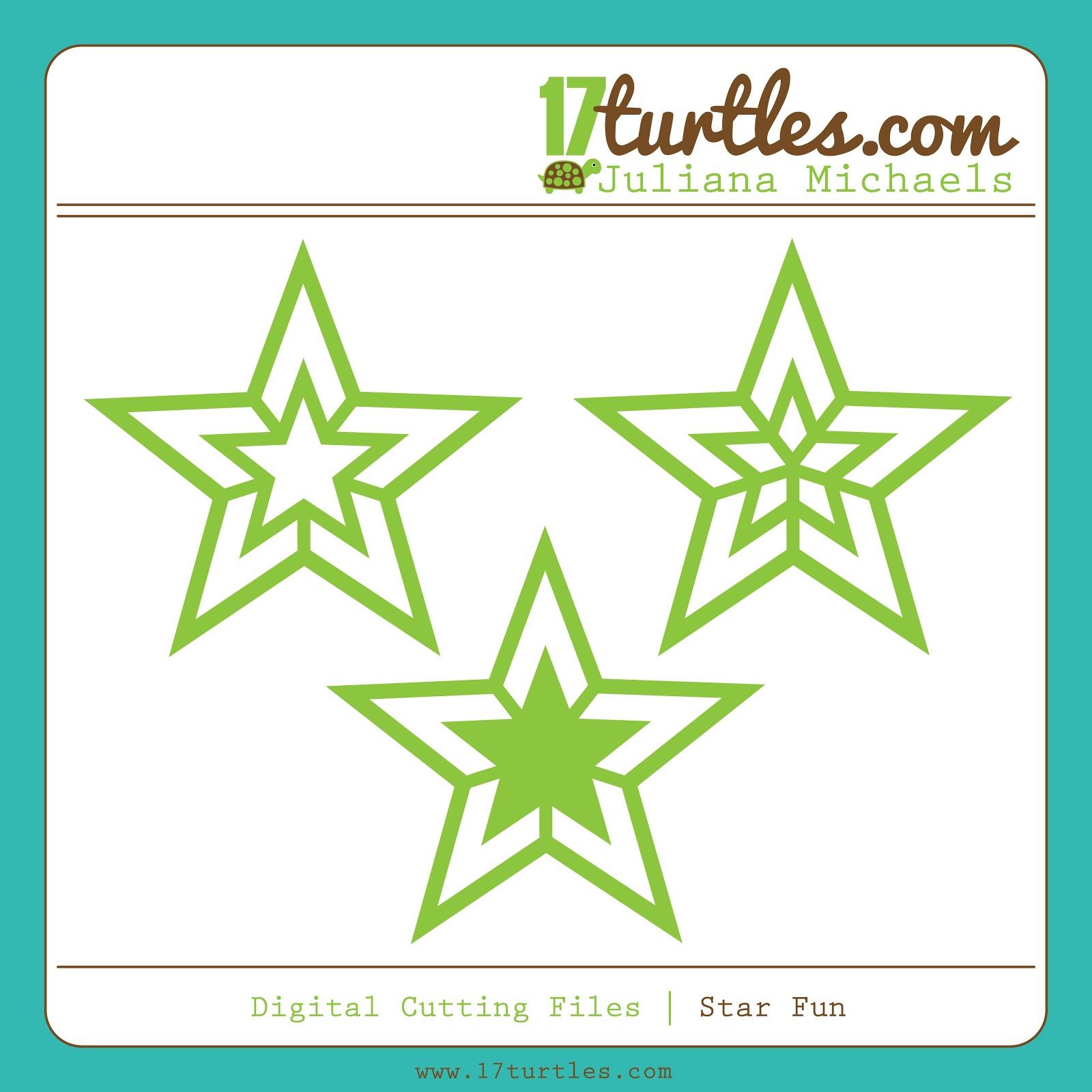 Star Fun FREE Digital Cut File by Juliana Michaels 17turtles
