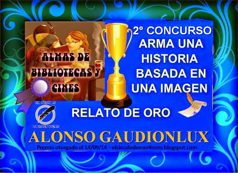Imagen de diploma de premio al 1er. Lugar Relato de Oro para el relato Legión de Alonso Gaudionlux