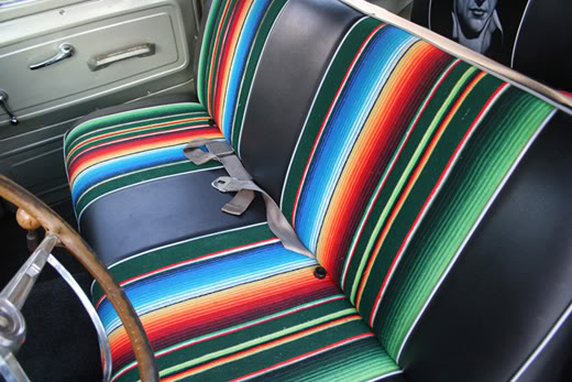 the analog almanac mexican blanket car interiors. Black Bedroom Furniture Sets. Home Design Ideas