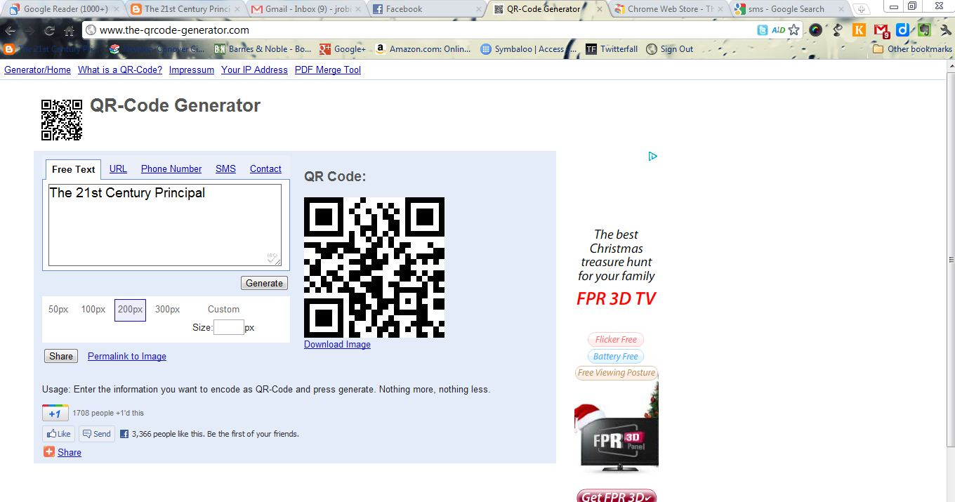 The 21st Century Principal: Free and Easy to Use QR-Code Generator