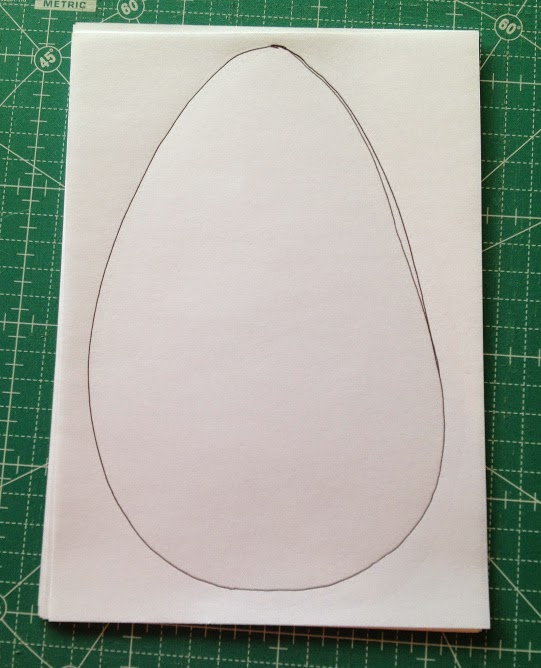 Draw an egg shape to the size you want