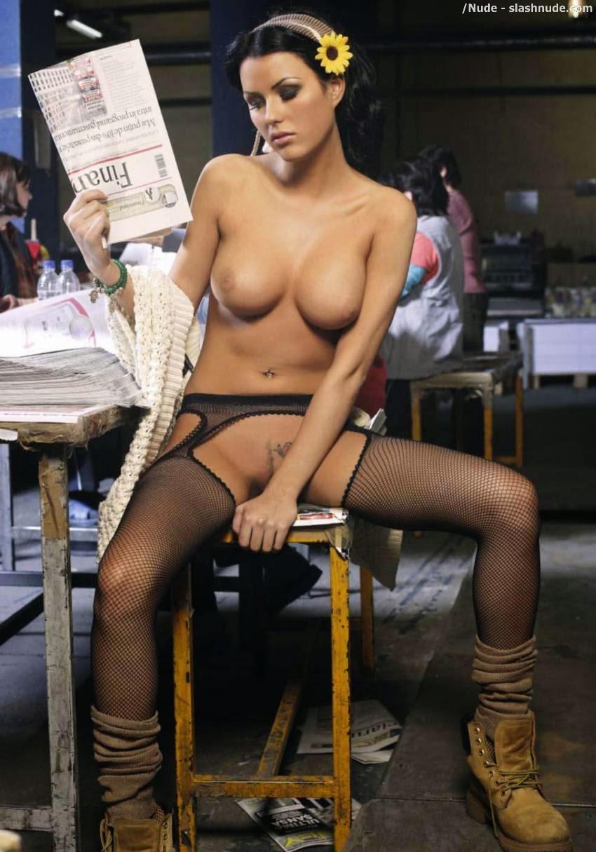 Daniela Crudu is a nude newspaper