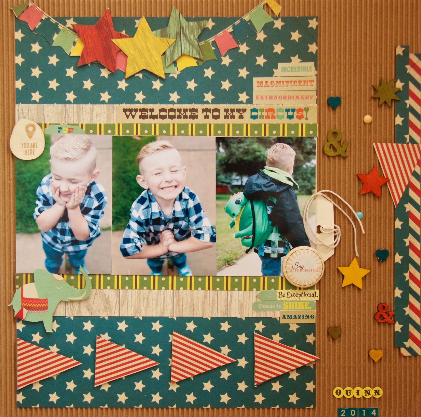 Scrapbook paper companies - Fancy Pants Designs Is One Of My Favorite Scrapbook Paper Companies And This Layout Is Created With The Everyday Circus Collection
