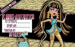 Tarjetas de Cumpleaños de Monster High