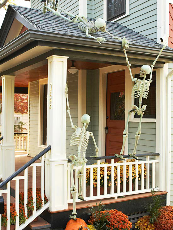 Halloween Outdoor Skeletons From My Front Porch To Yours