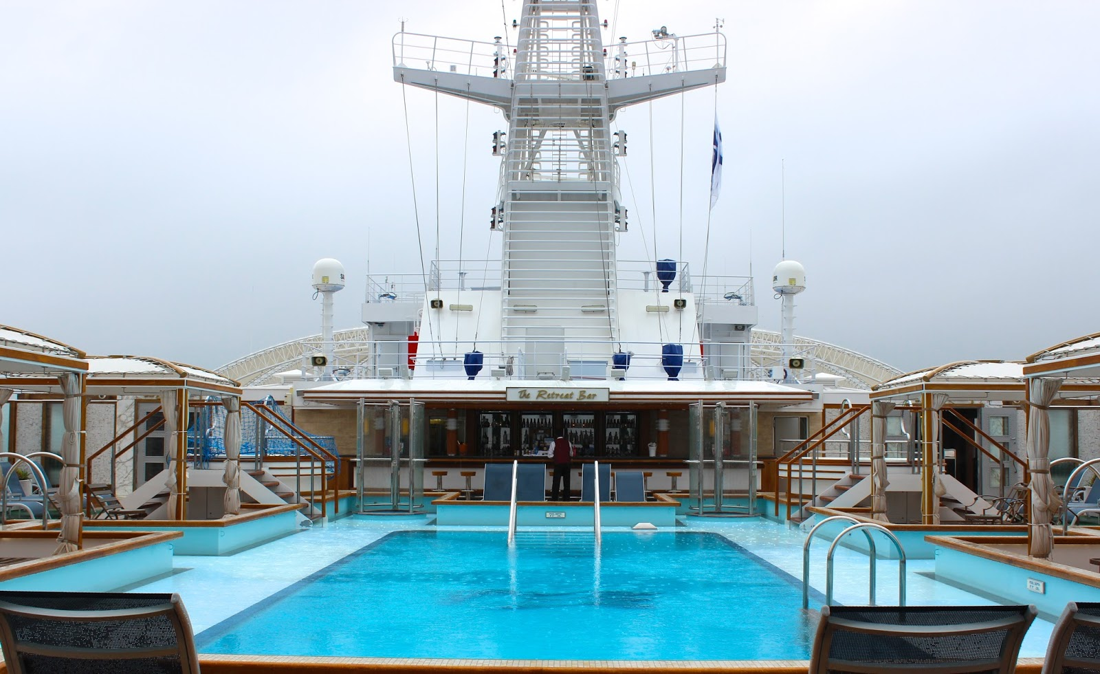 The Royal Princess Cruise Ship - Upper Deck Pool