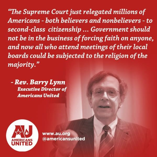 Rev. Barry Lynn on the outcome of Town of Greece v. Galloway