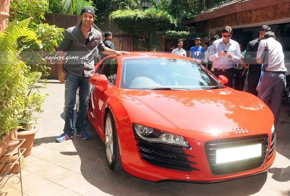 Ranbir Kapoor Soon After The Delivery Of Audi R8