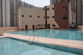 Livingston:: Construction Status on July 2014:-Club & Swimming Pool