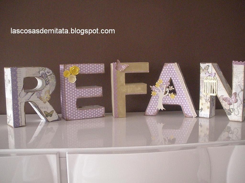 Decoraci n para cumplea os con letras de cart n - Letras de decoracion ...