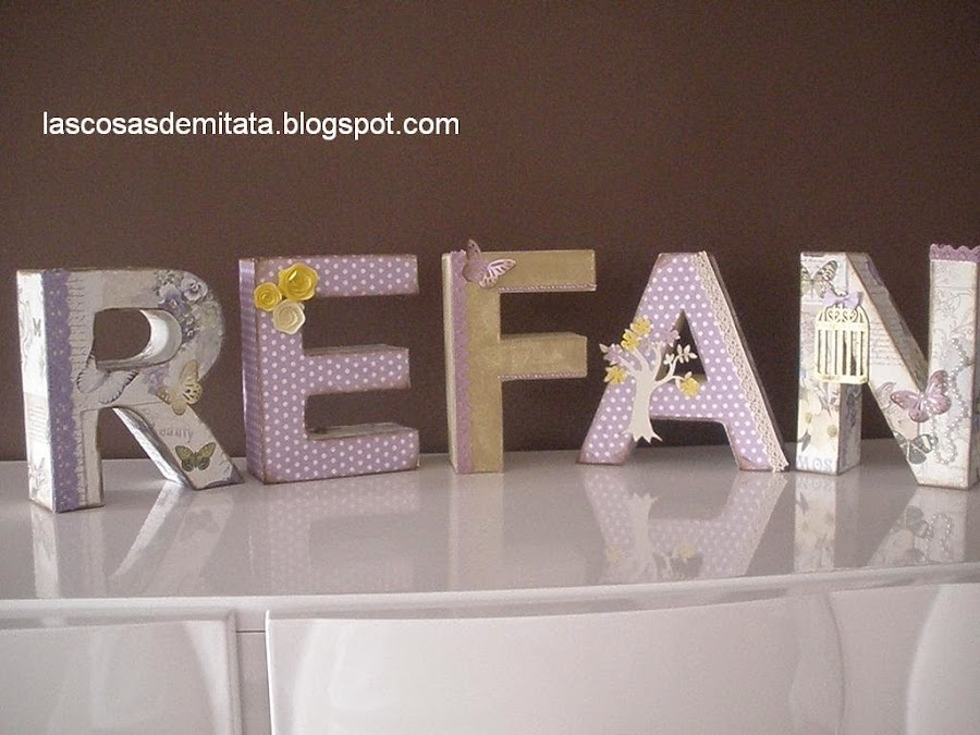 Decoracion Letras Home ~ decoupage letras de cart?n decoradas letras de cart?n decoradas
